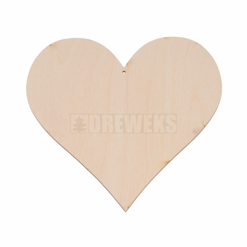 Heart cut-out 135mm - plywood