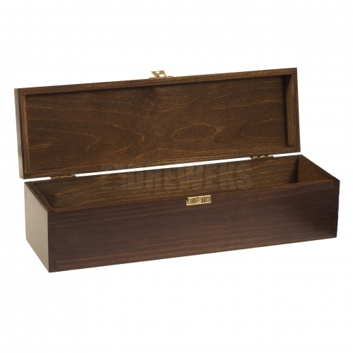 Wine box with lid / brown - 1 bottle