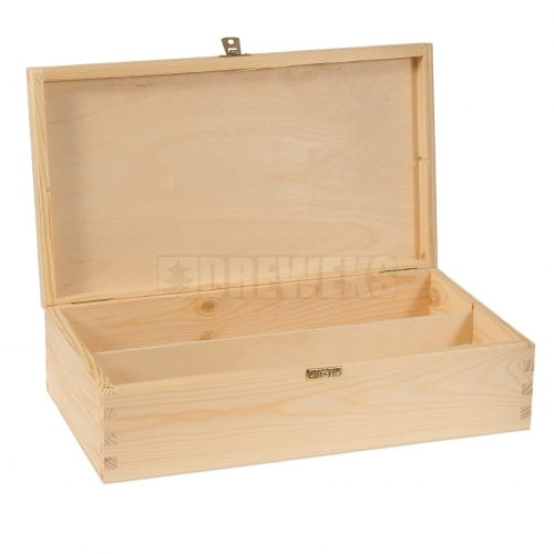Wine box with lid - 2 bottles
