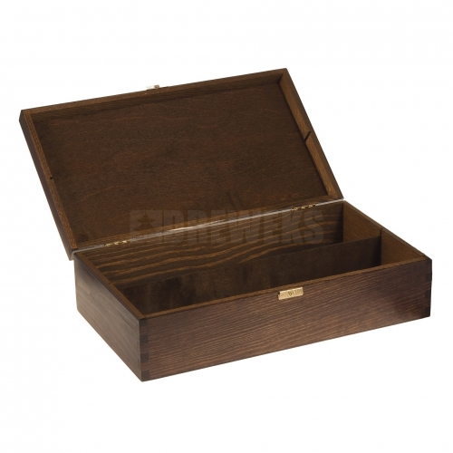 Wine box with lid / brown - 2 bottles