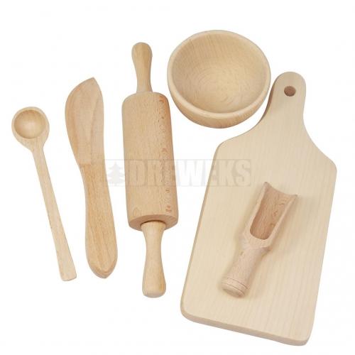 Drewniane klocki - zestaw edukacyjny