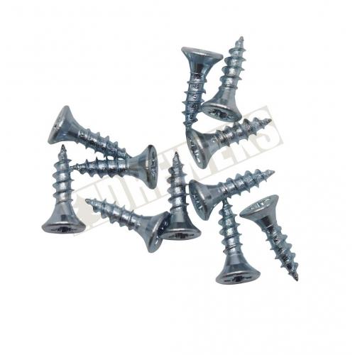 Śrubki kolor srebrny - 100g