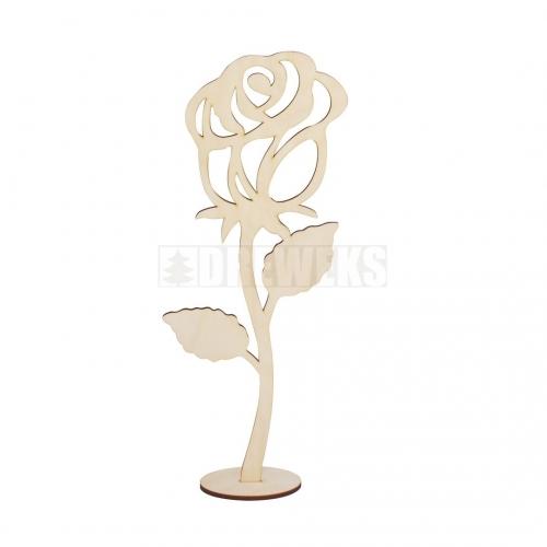 Róża 40cm na podstawce