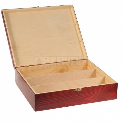 Wine box with lid / color - 3 bottles