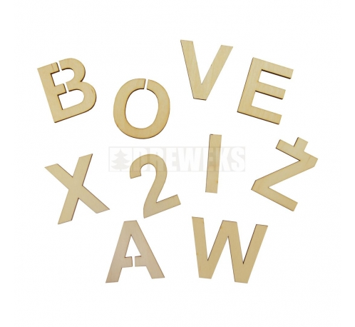 Letter / digits 85x3mm - plywood