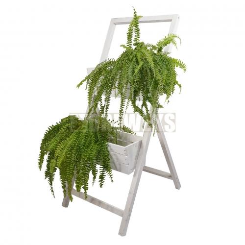 2 Flowerpot stand - white