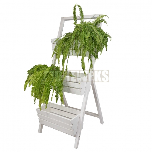 3 Flowerpot stand - white