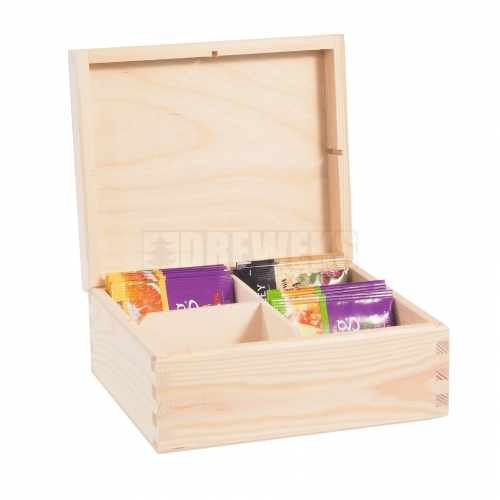 Tea box - 4 compartments