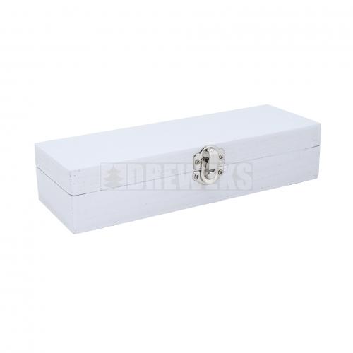 Białe pudełko, kasetka z zapięciem