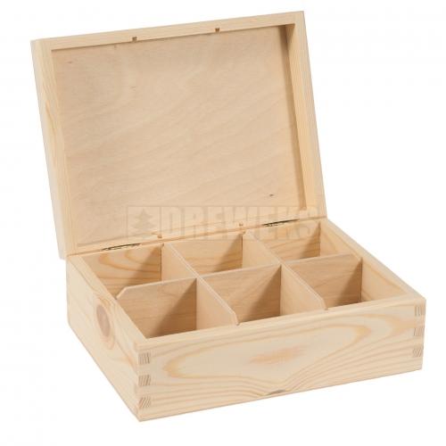 Tea box - 6 compartments