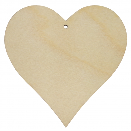 Heart cut-out 90mm - plywood