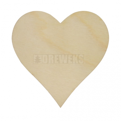 Heart cut-out 60mm - plywood without hole