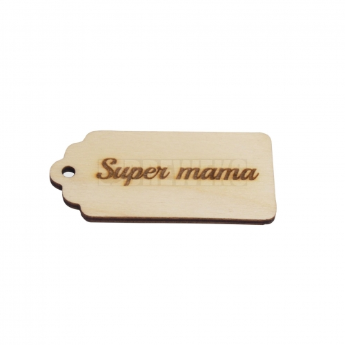"A big pendant ""super mama"""