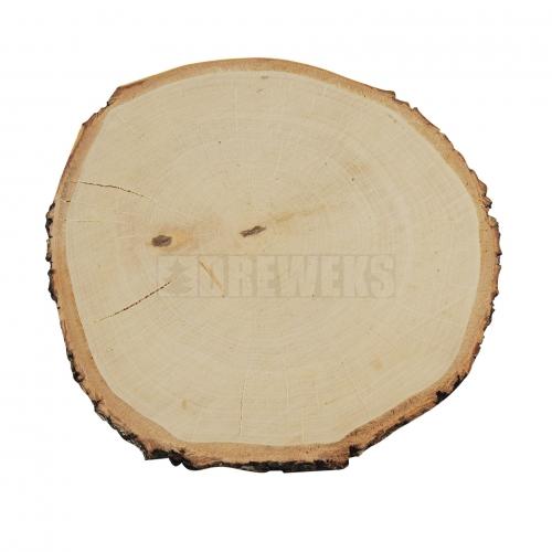 Plaster z drewna z korą ⌀ 24-28 - szlifowany jednostronnie