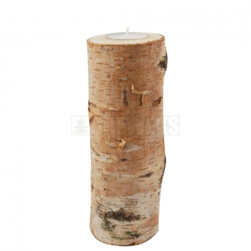 Drewniany świecznik brzozowy 20 cm