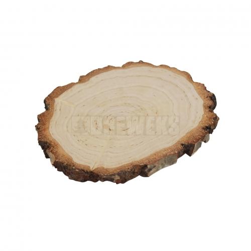 Wood slice with bark ⌀ 12 / 15cm - sanded on both sides