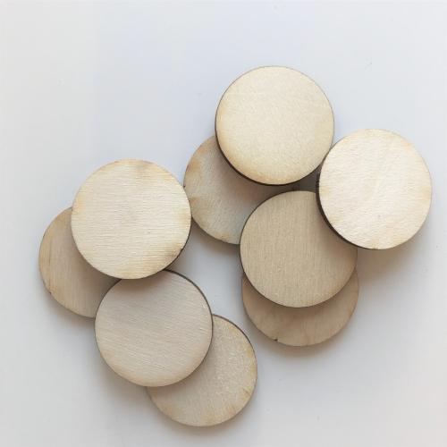 Circle Ø35mm plywood - 20 pc.