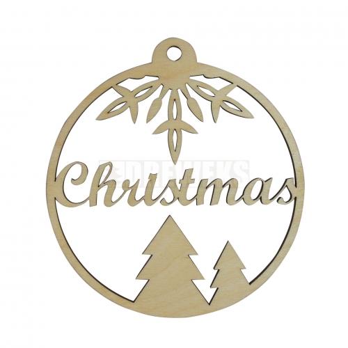 """Bauble shaped tag - """"Wesołych Świąt"""""""