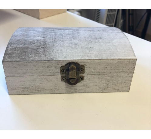 Grey case with a clasp