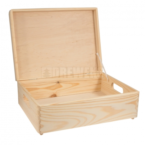 Storage box with lid and handles - medium