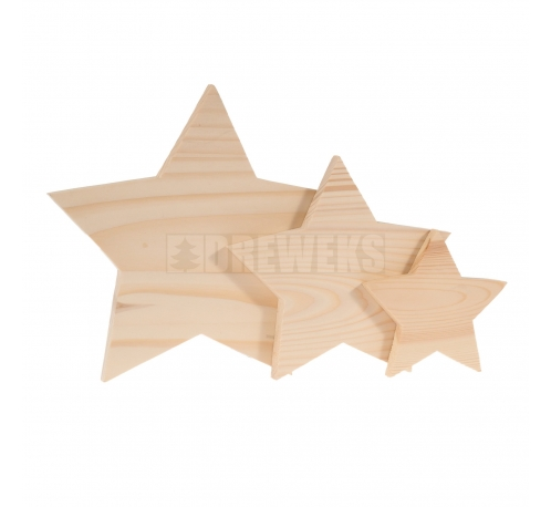 Standing stars - set of 3 pcs