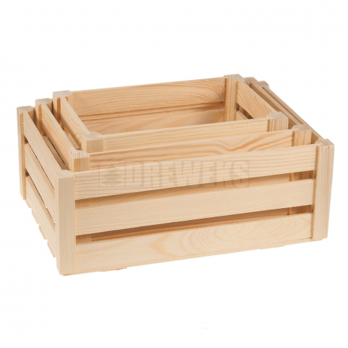 Slat box - set of 3 pcs