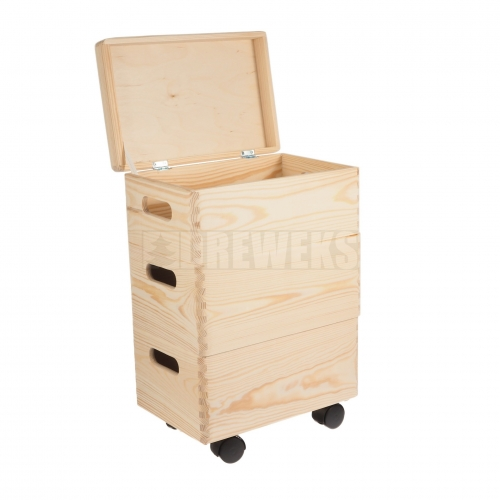Storage box set on wheels / trio - small