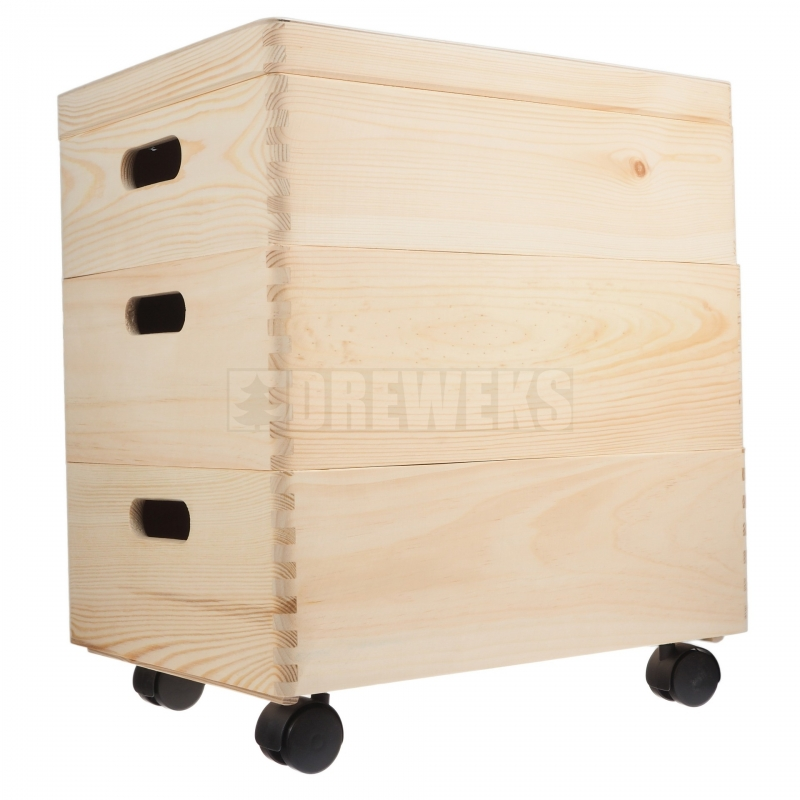 Charmant Storage Box Set On Wheels / Trio  Medium