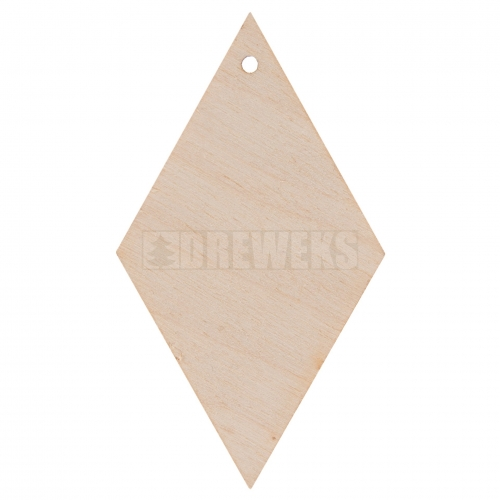 Plywood earring - deltoid