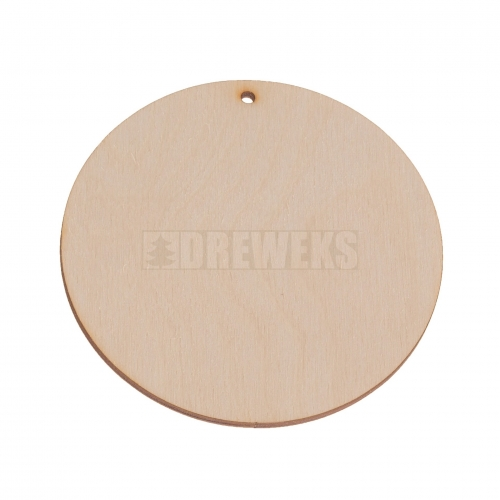 Round earring ?42 plywood