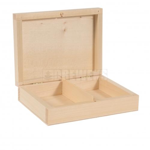 Pudełko na 2 talie - drewniane wieczko
