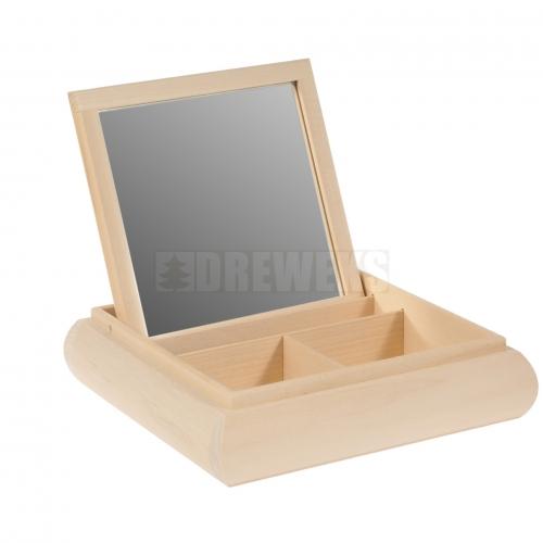 Toaletka kwadratowa z lustrem