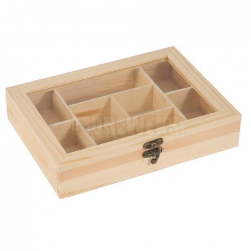 Storage box with pane