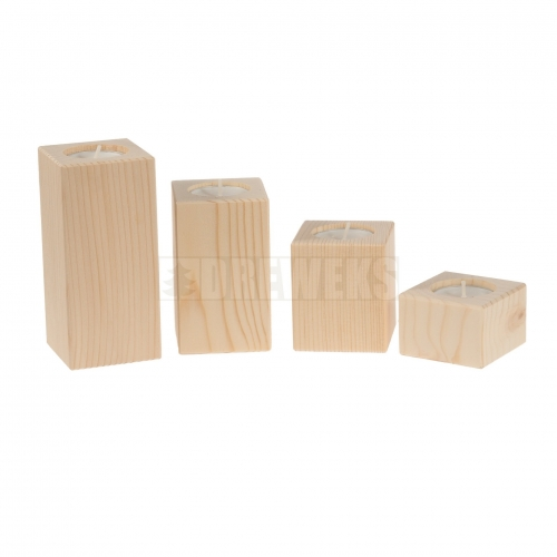 Candlestick vertical - pine/ set of 4 pcs