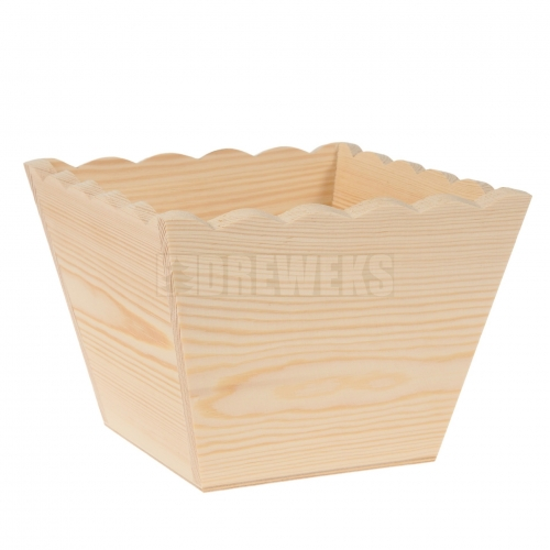 Flowerpot with waved edges - square/ small