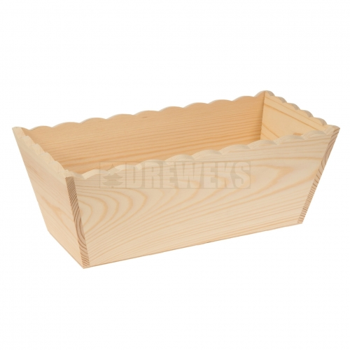 Flowerpot with waved edges - rectangular