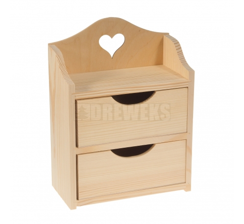 Chest od drawers with heart - 2 drawers