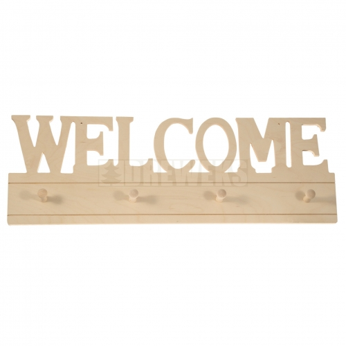 Hanger - WELCOME/ 4 pegs
