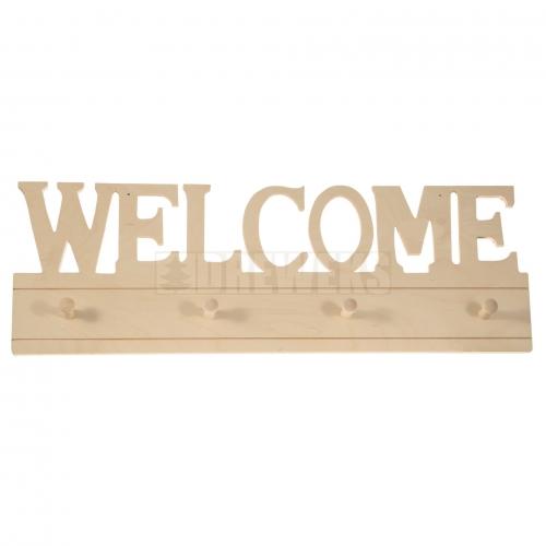 Hanger - WELCOME/ 4 pegs