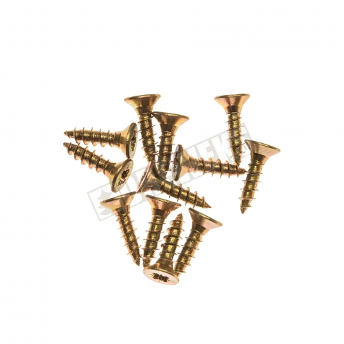 Screws 8mm - brass/ 12 pcs