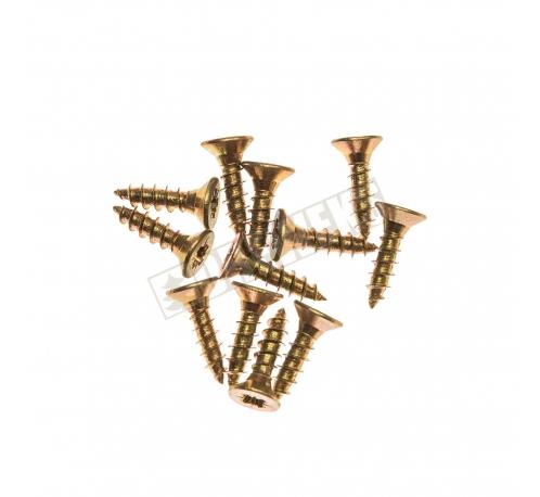 Screws 8mm - brass/ 12 pcs