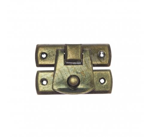 Lock 30x22mm - dark brass