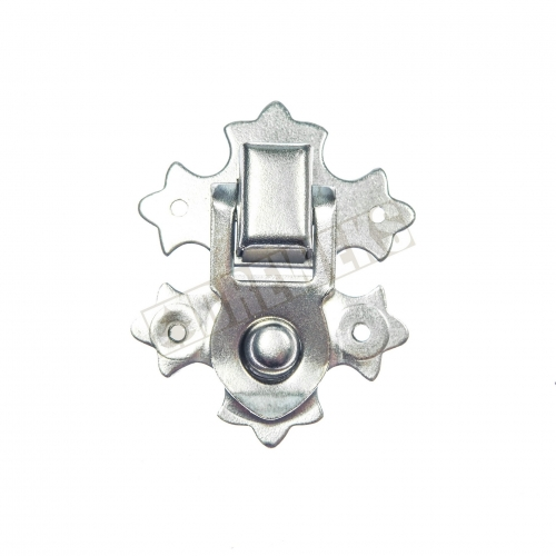 Decorative lock 29x37mm - nickel