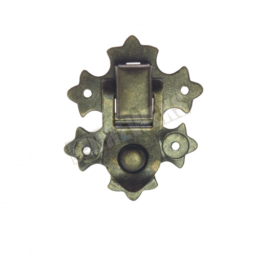 Decorative lock 29x37mm - dark brass