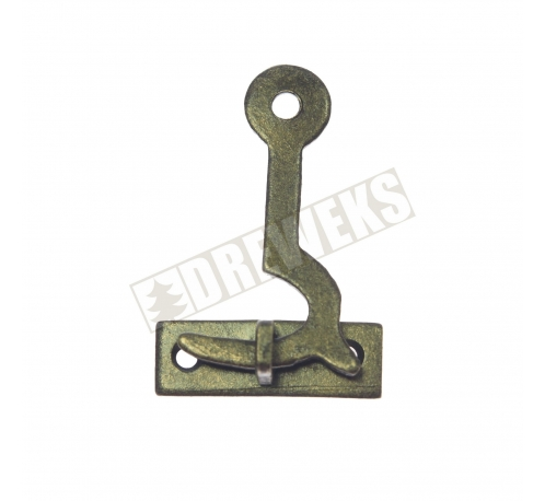 Hook for boxes 33x21mm - dark brass