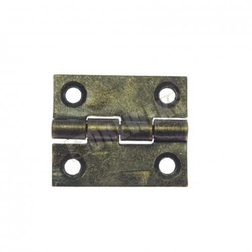Hinge 25x20mm - dark brass