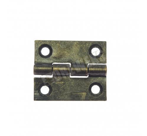 Hinge 25x20mm - dark brass