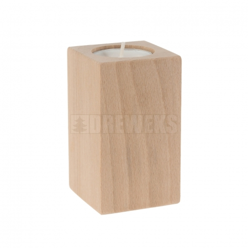 Candlestick vertical 130 mm - beech