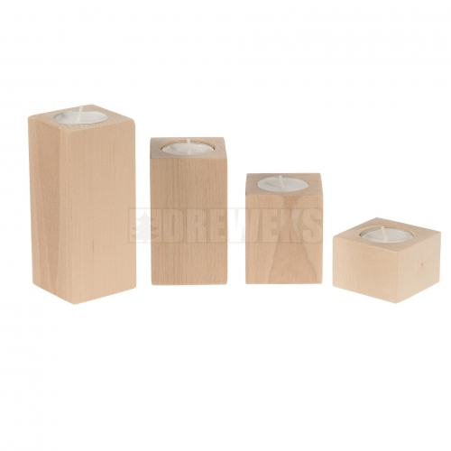 Candlestick vertical - beech/ set of 4 pcs