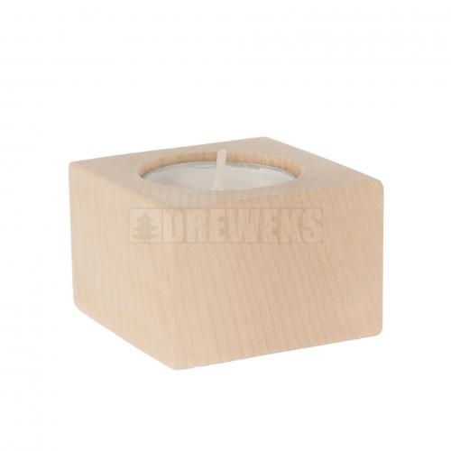 Świecznik bukowy 40 mm